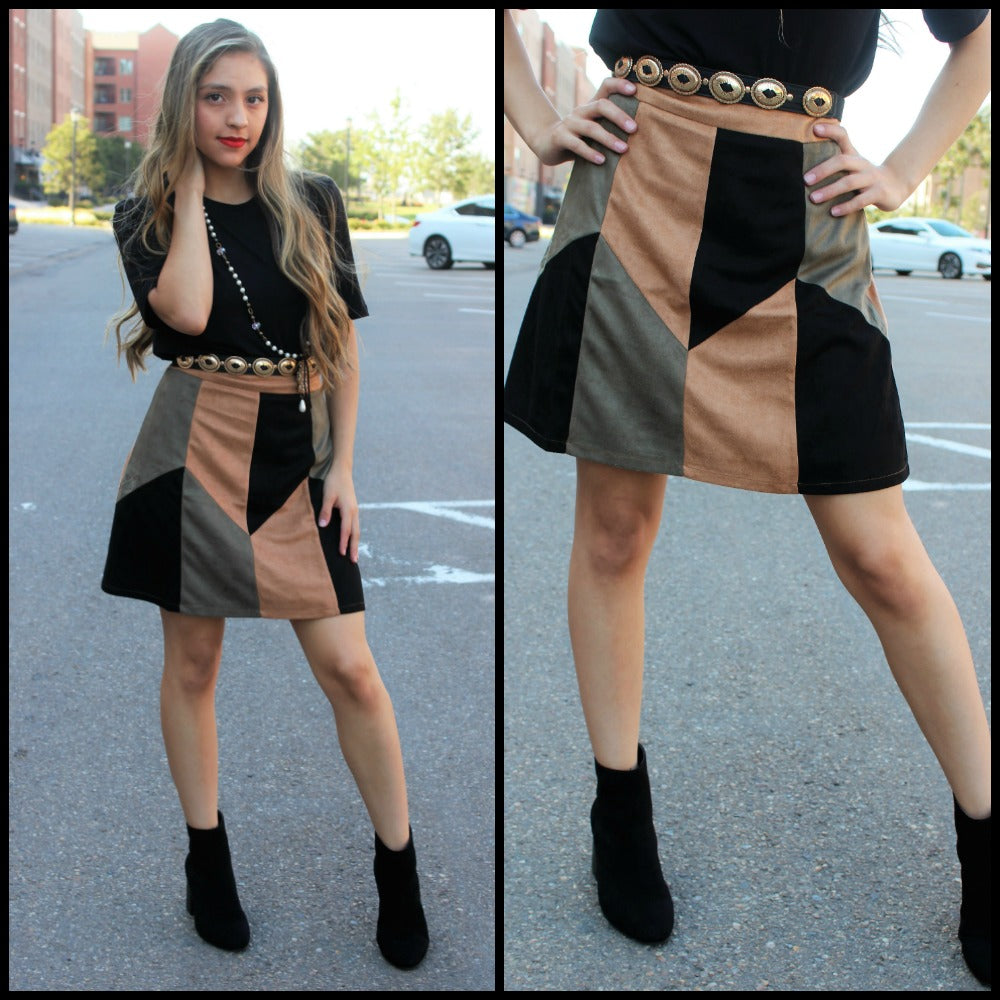 Camel Couture Skirt