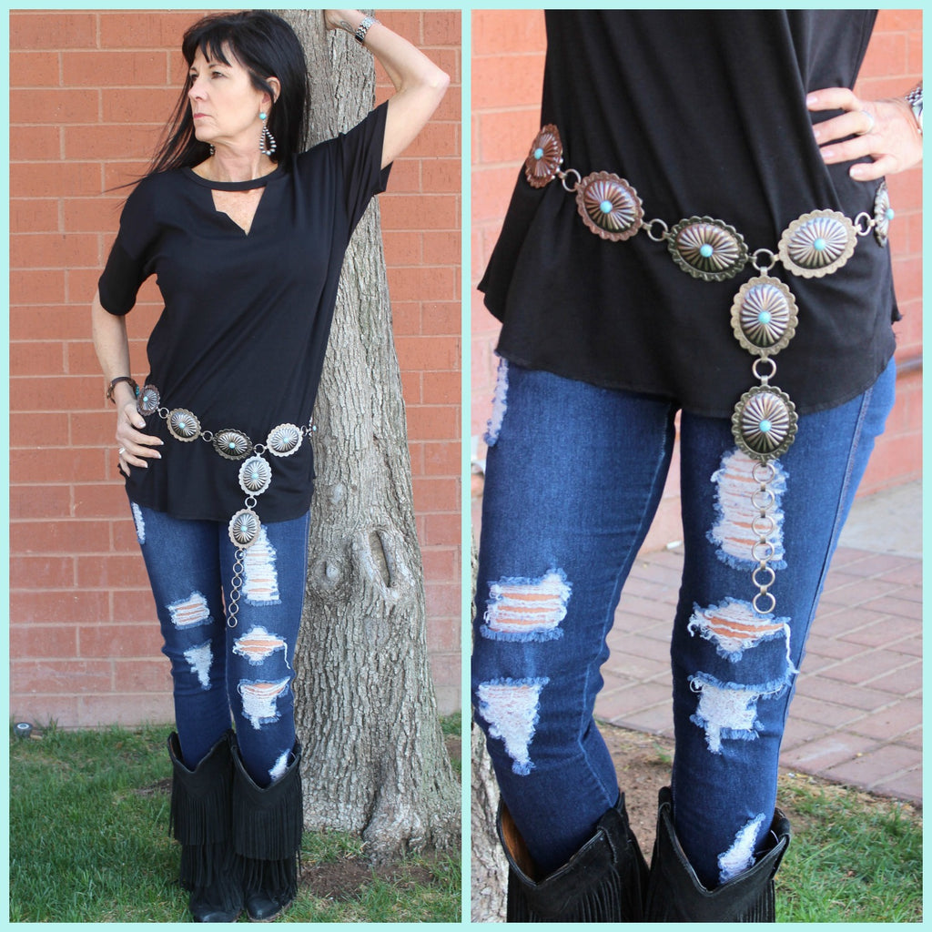 Concho Oval Belt