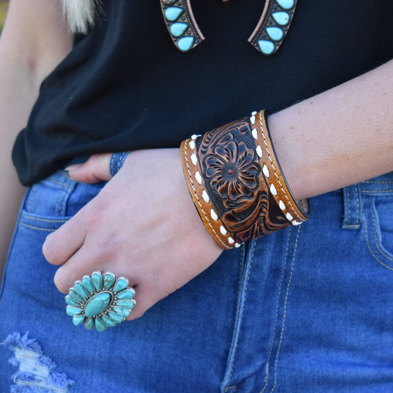 Duel Darling Leather Cuff