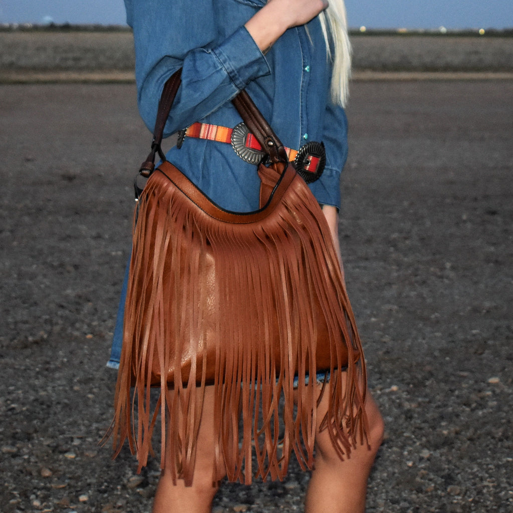 Brown Dolly Fringe Bag