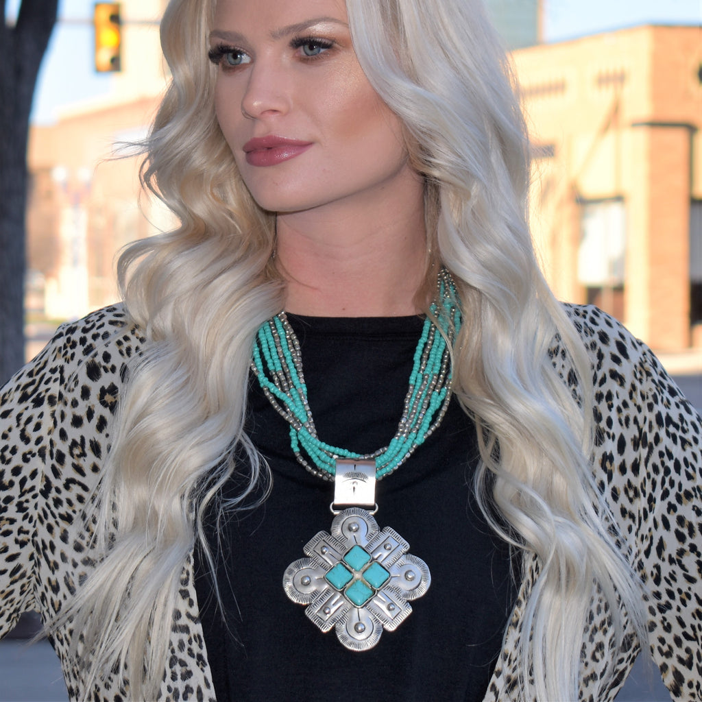 Boulder Turquoise Multi Strand Necklace