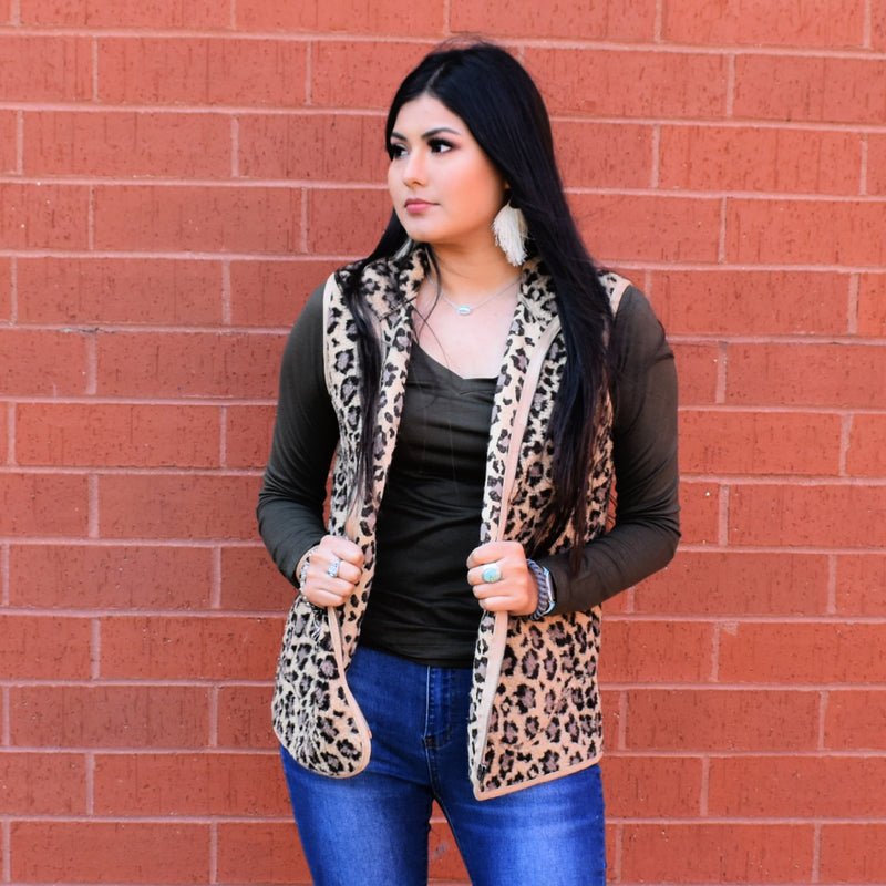 The Leopard Teddy Vest