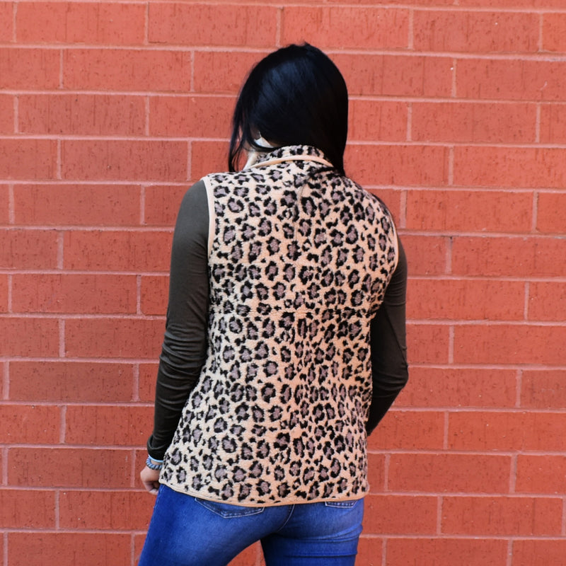 The Leopard Teddy Vest*