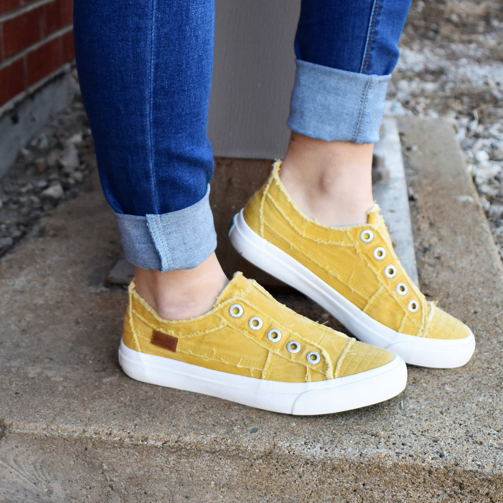Mustard Blowfish Slip On Sneaker