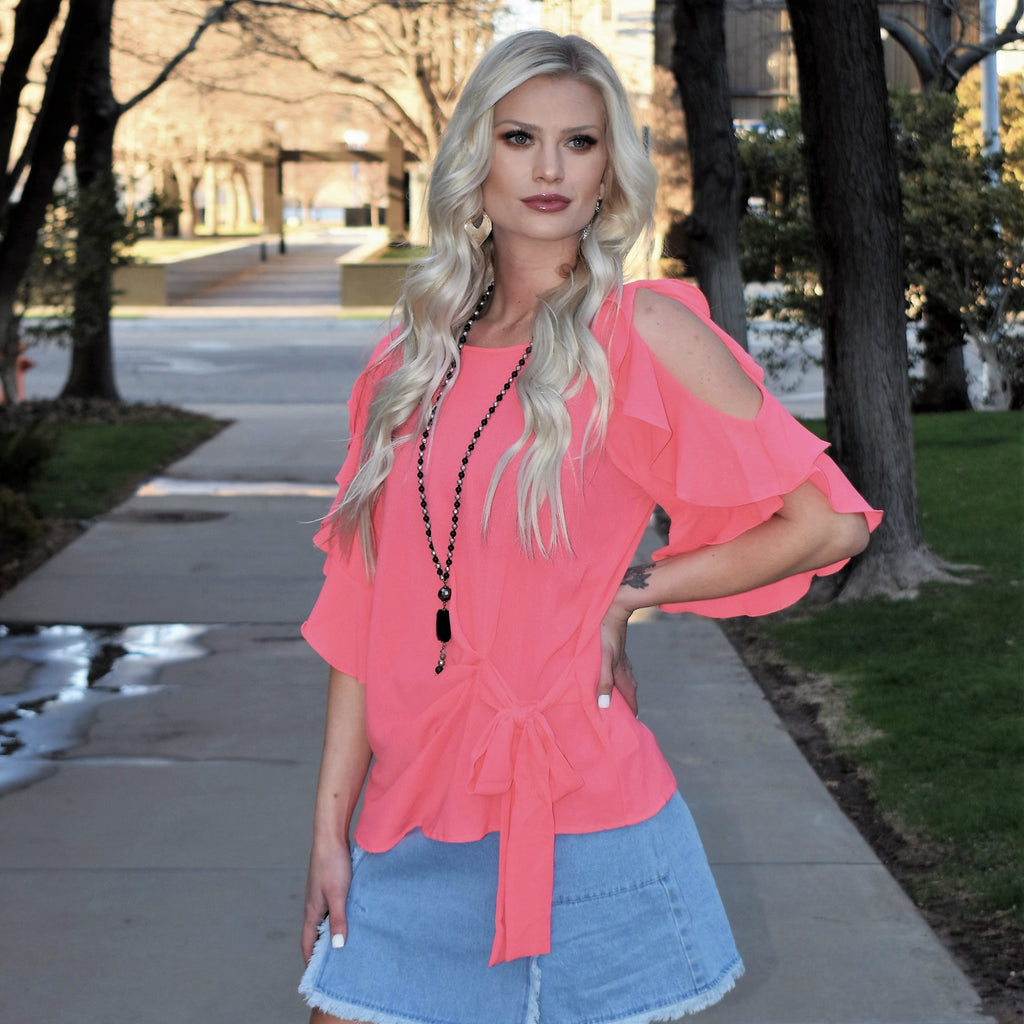 Coral Collab Top