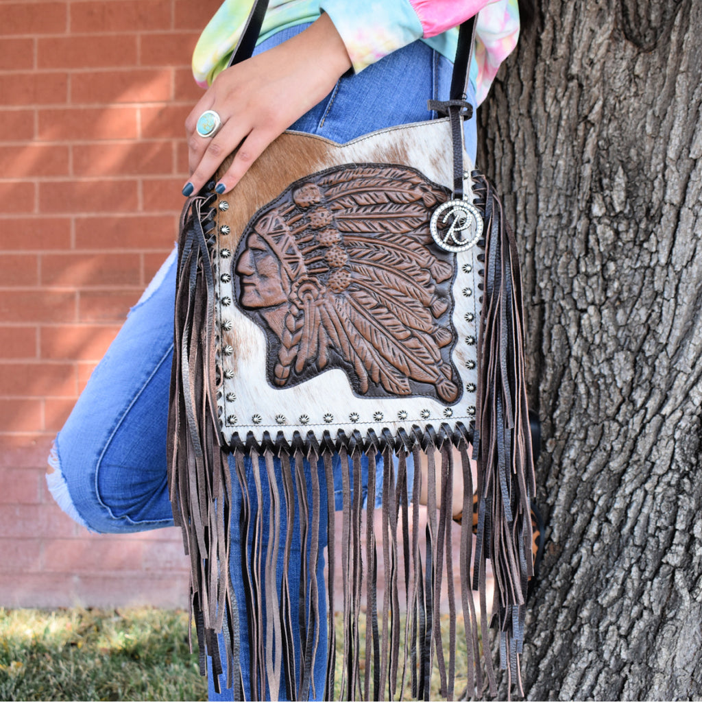 Western Chieftain Fringe Cross-Body