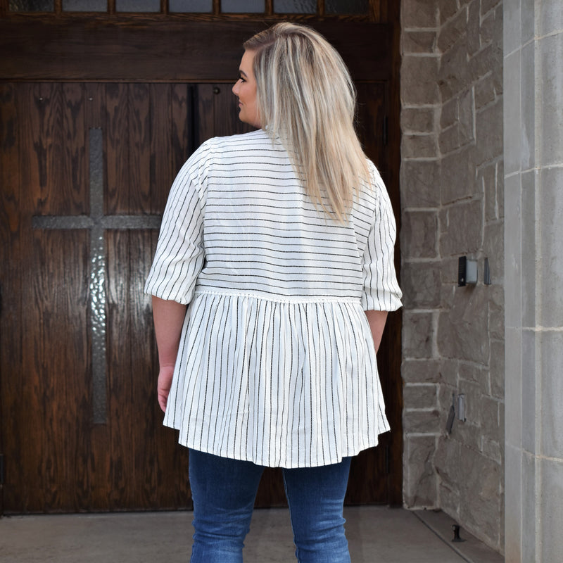 Plus Desert Rose Striped Top