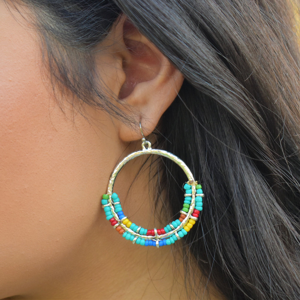 Cliffside Colorful Hoop Earrings