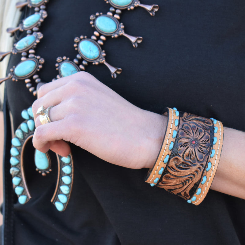 Cotillion Darling Leather Cuff