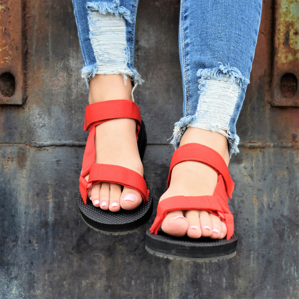 Nirvana Red Sandals
