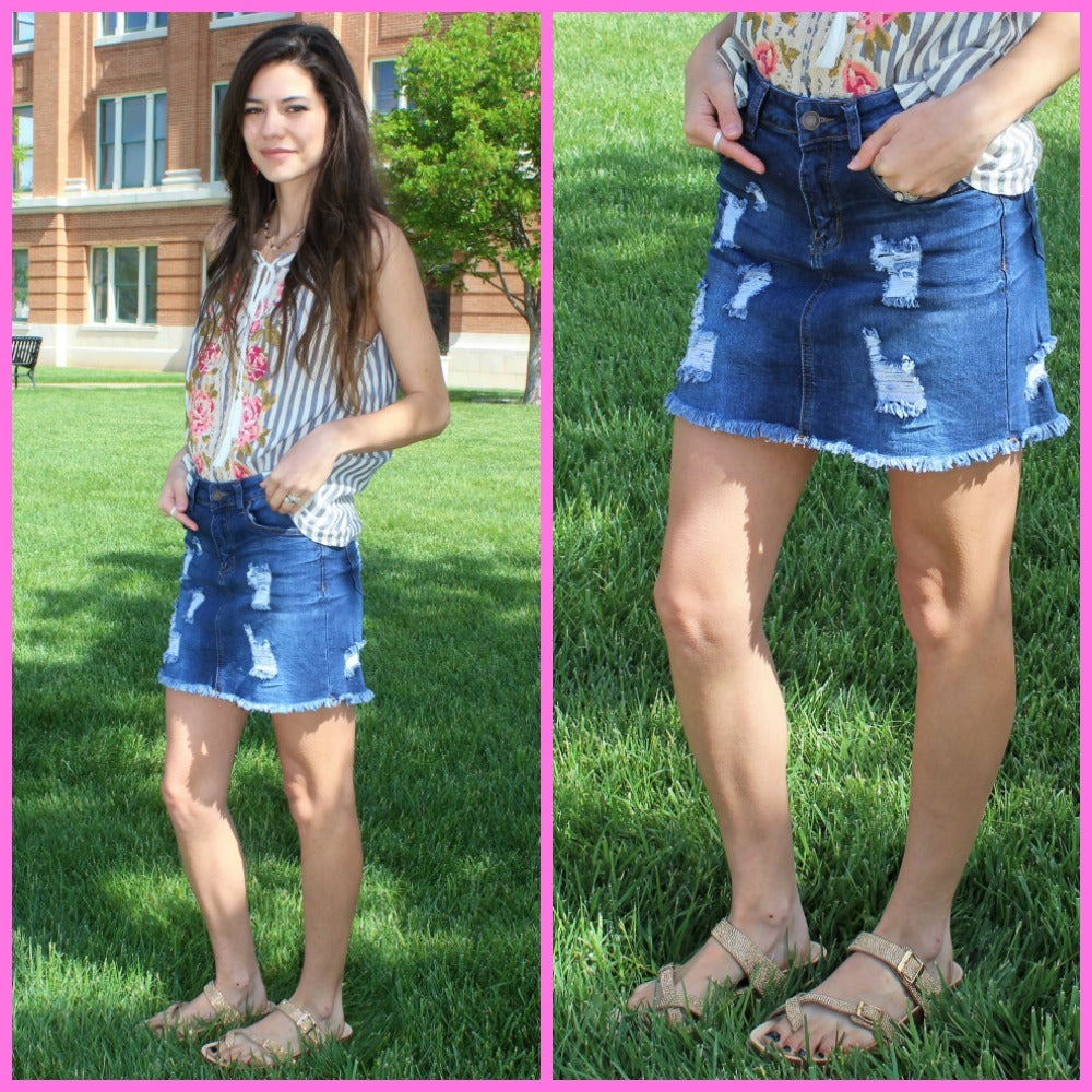 Funky Town Denim Skirt