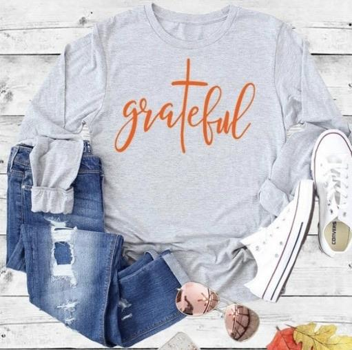 PLUS Grateful Long Sleeve Tee