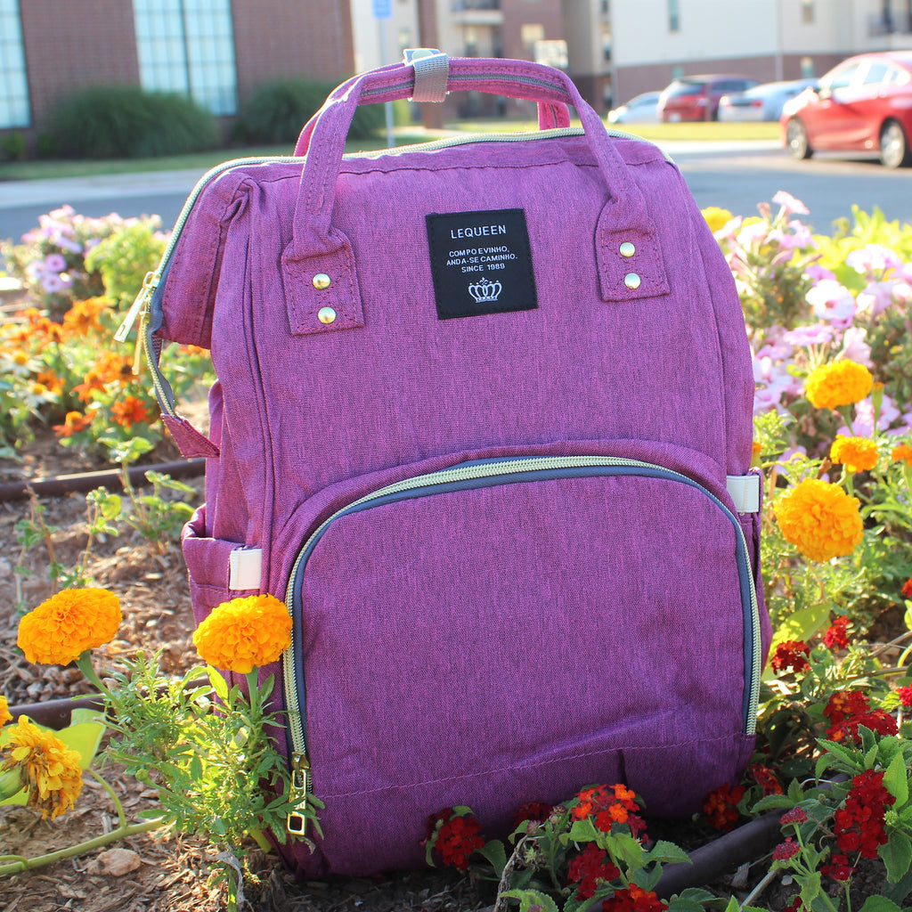 Purple Plum Diaper Bag