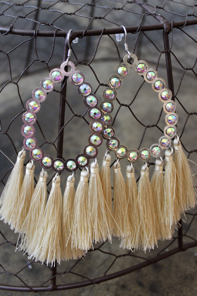 All American Cream Fringe Earring