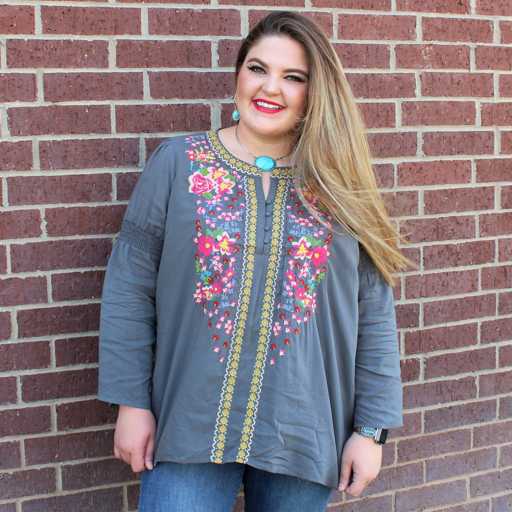PLUS Fall Blooms Top