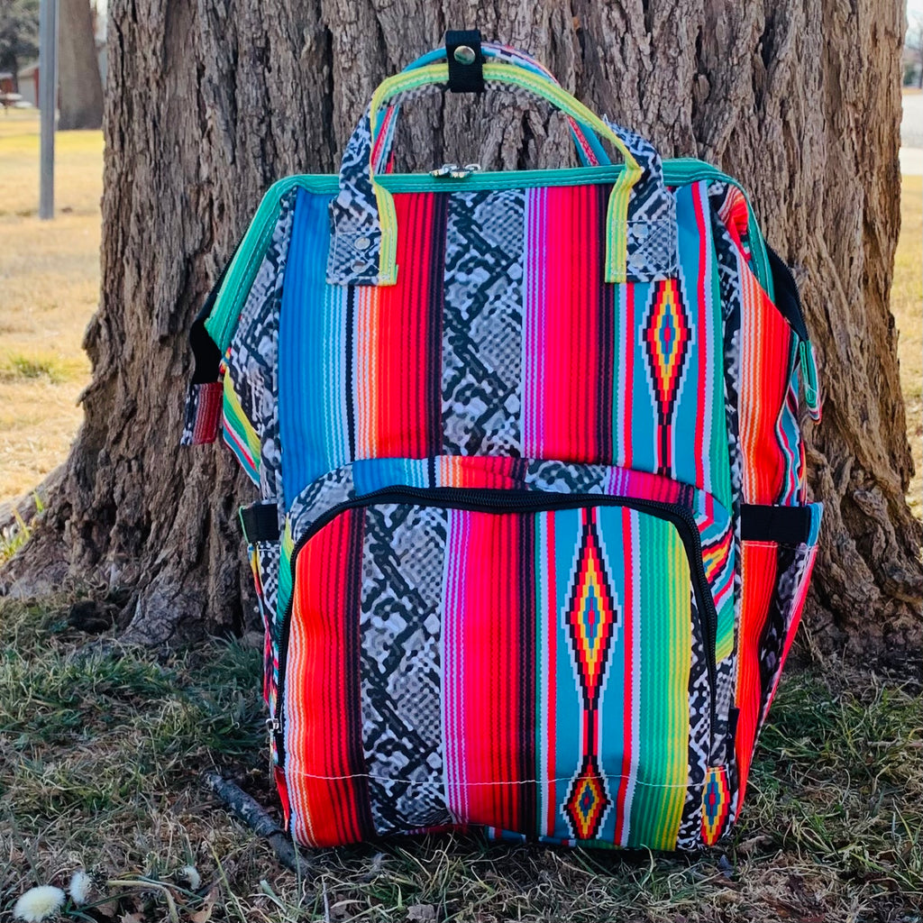 Snake In Santa Fe Diaper Bag