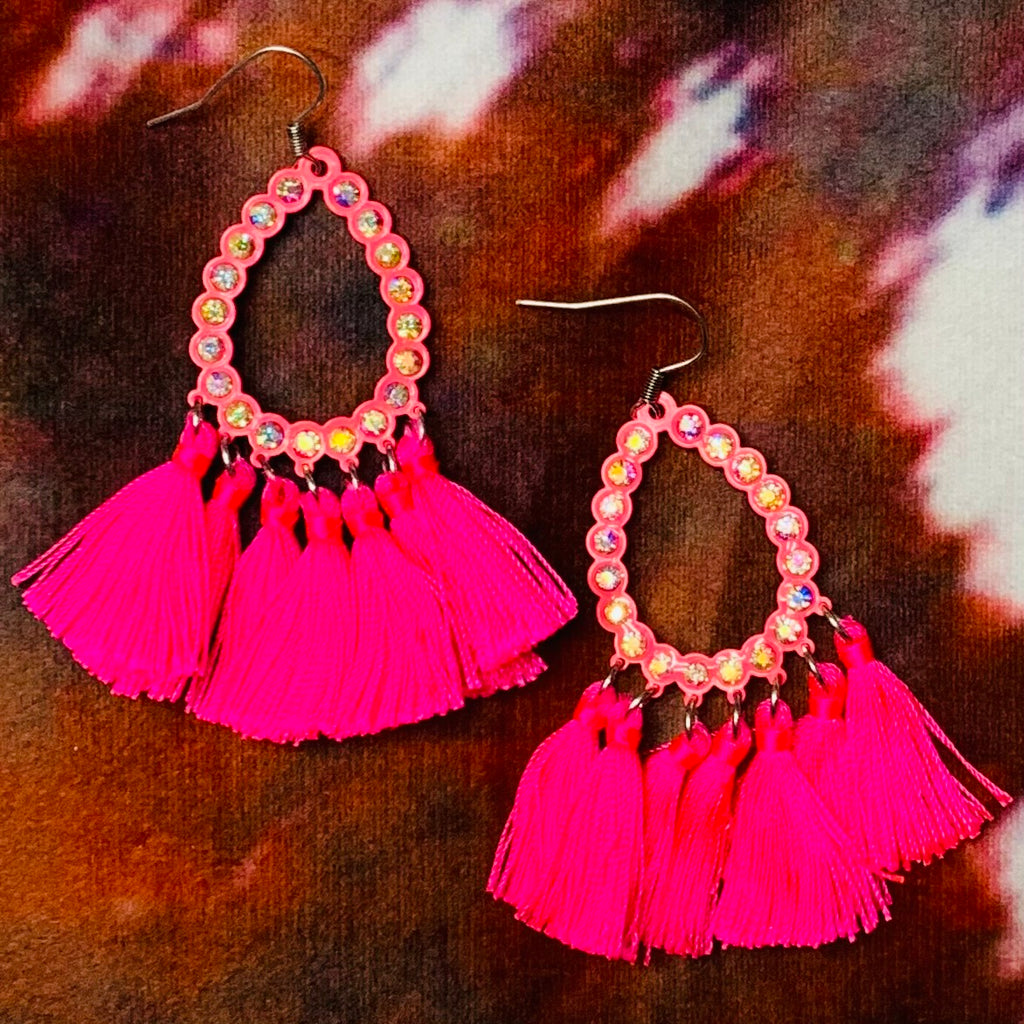 Mini All American Pink Earrings