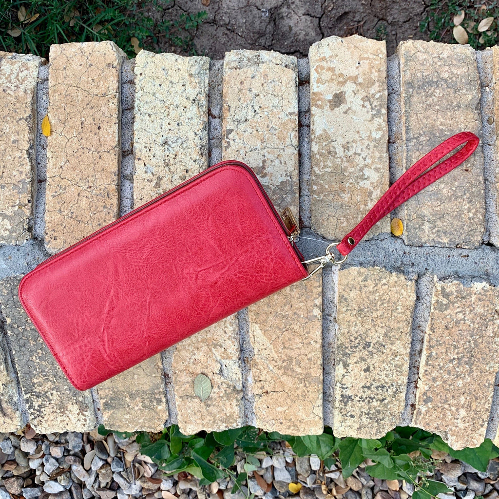 Red Braided Knot Wallet