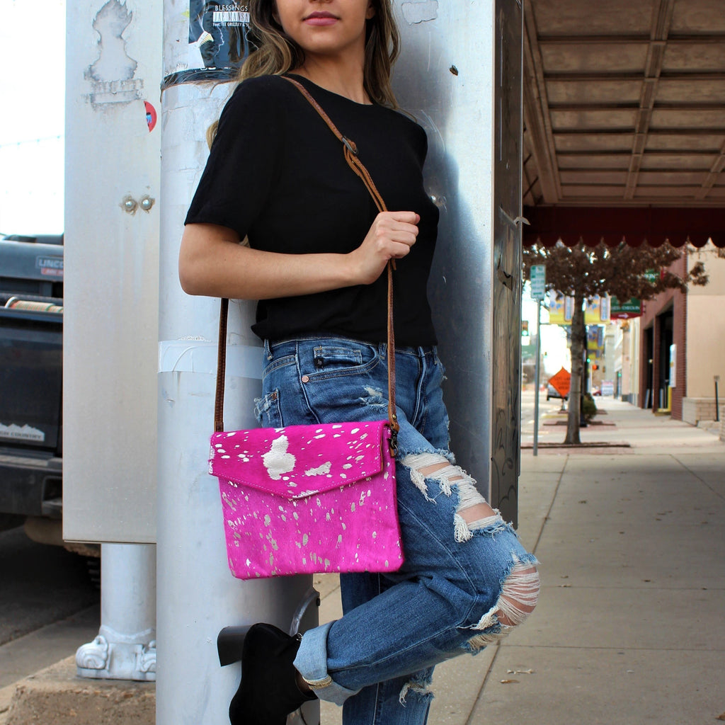 Pink Letters Of Love Cross-Body