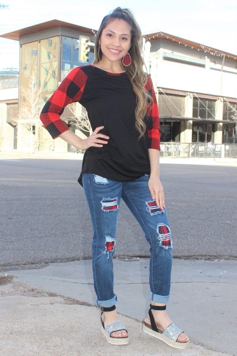 Cape Buffalo Plaid Top