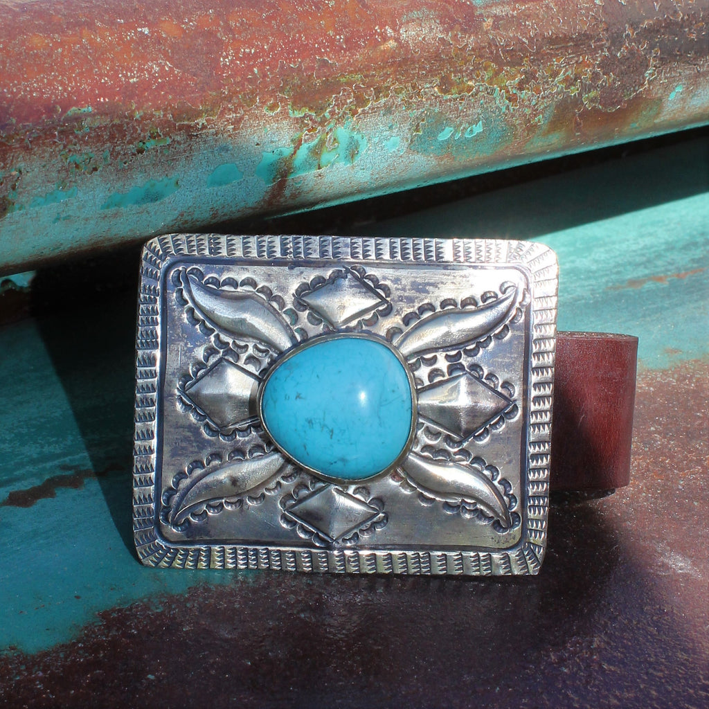 Rectangle Turquoise Bracelet