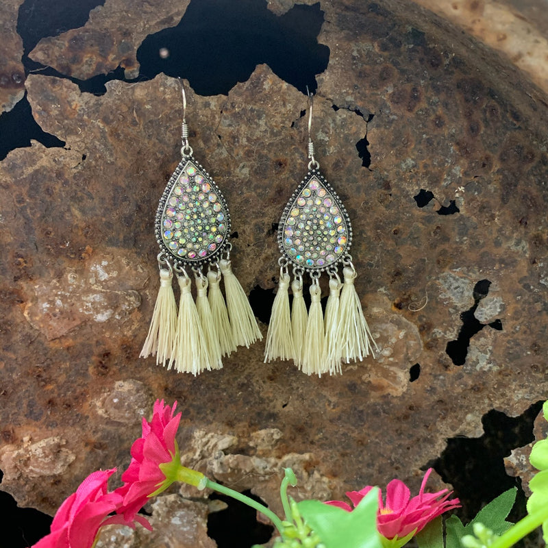 Seeing Stars Tassel Earrings