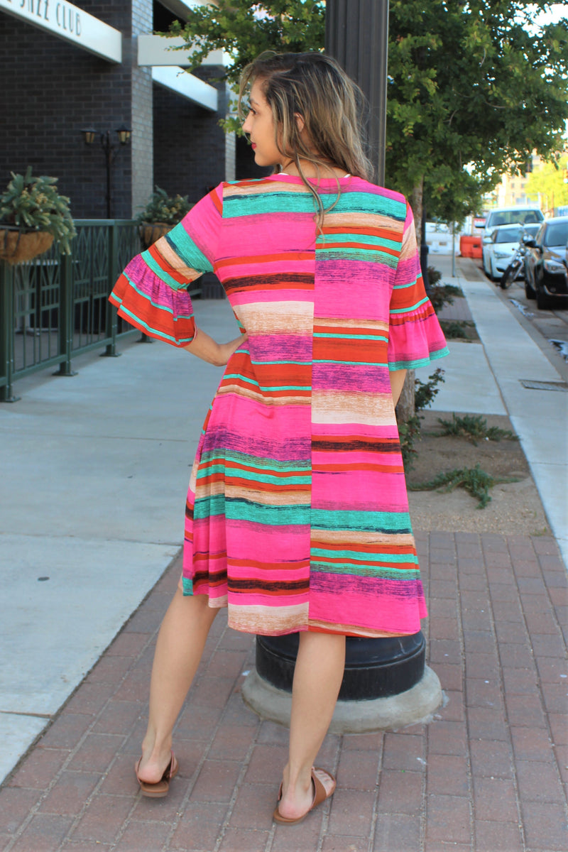 Malibu Serape Dress