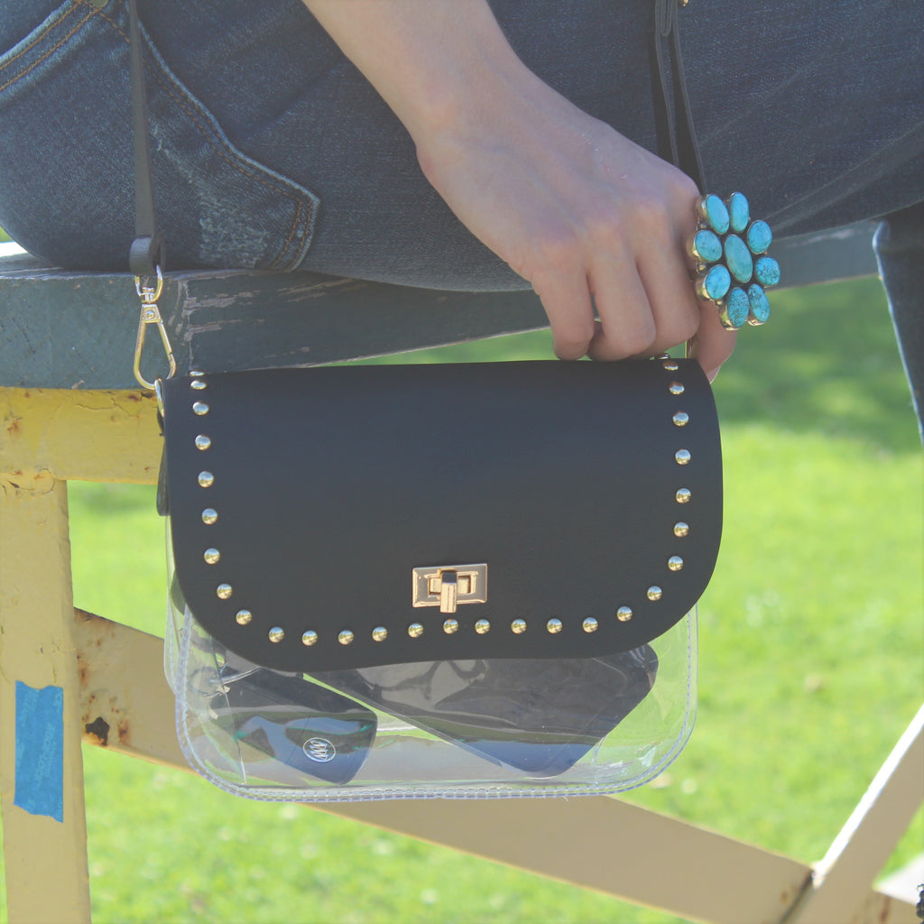 Black Mini Stadium Crossbody