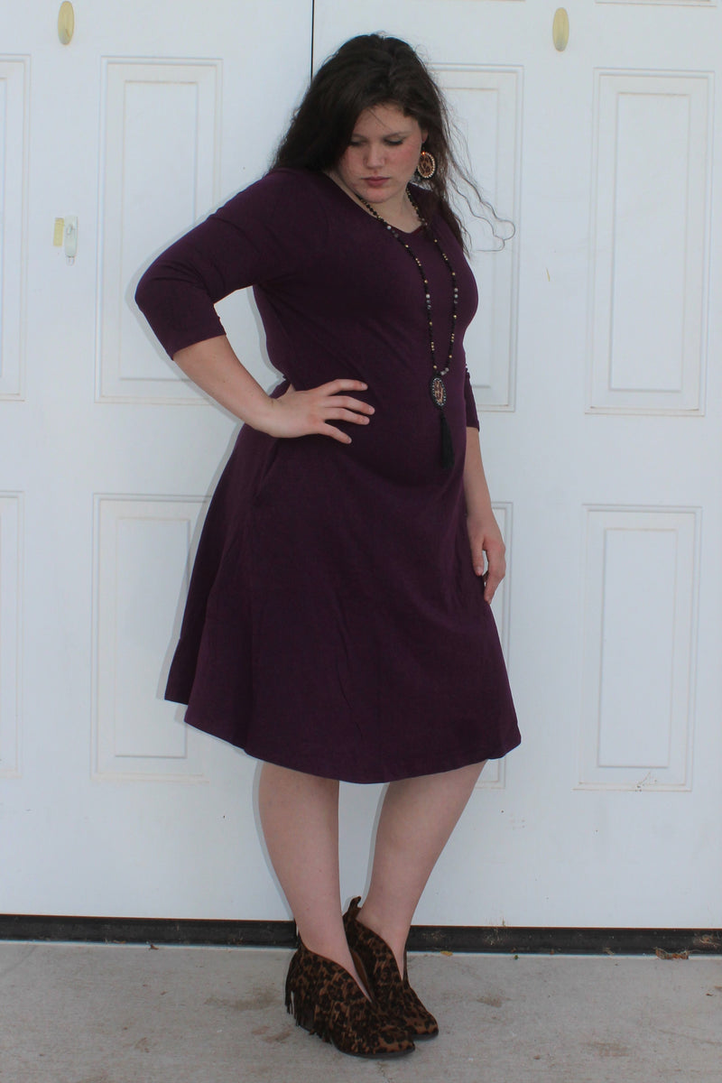 PLUS Basic Flare Dress