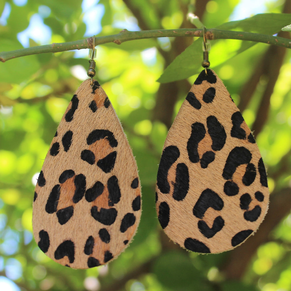 Light Leopard Earring