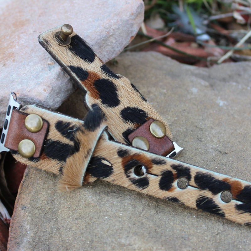 Mini Leopard Hide Leather Watch Band