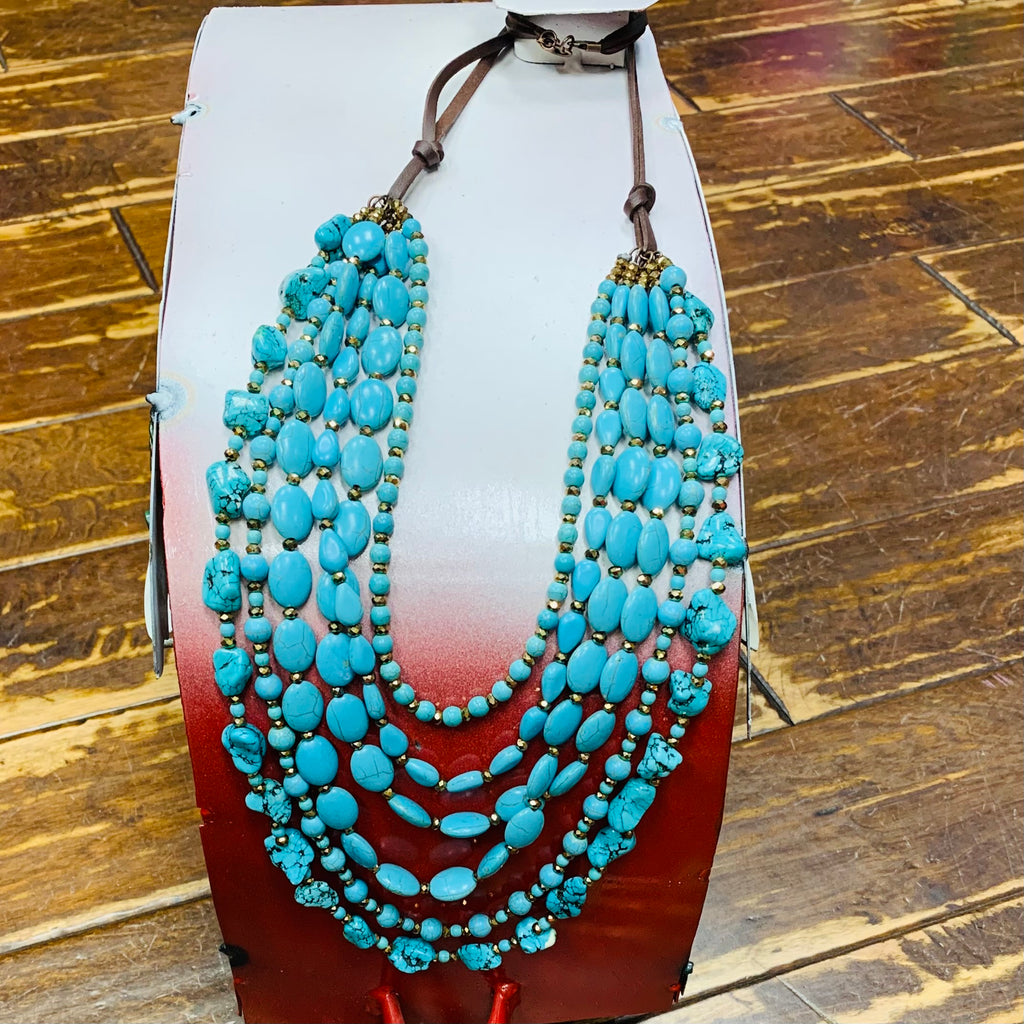 Love It To Pieces Turquoise Necklace