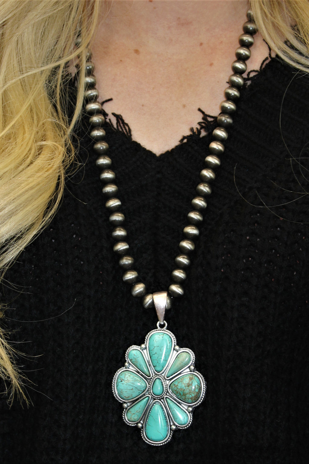 Large Western Flower Necklace