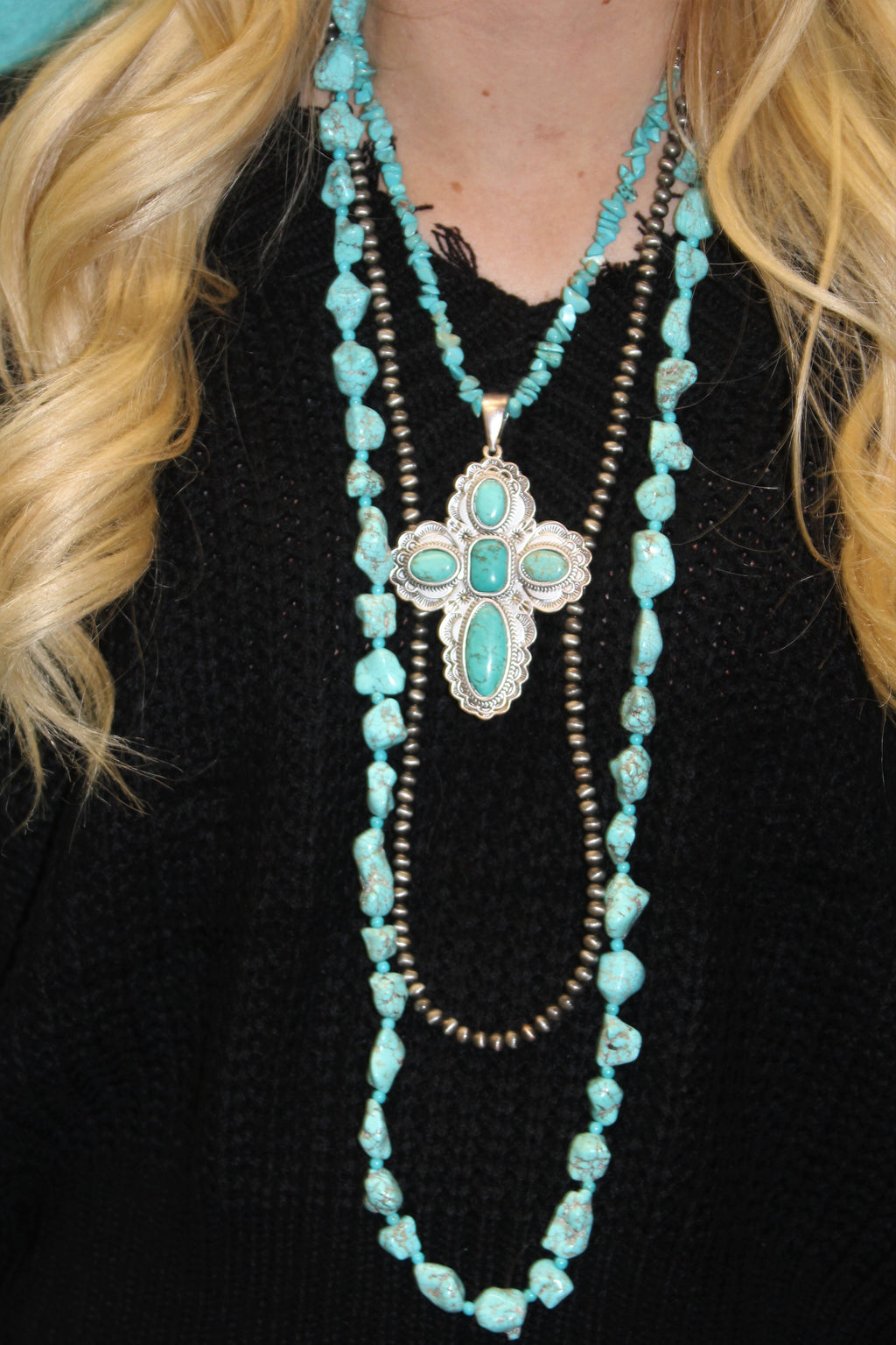 Turquoise, Faith, and Strength Necklace