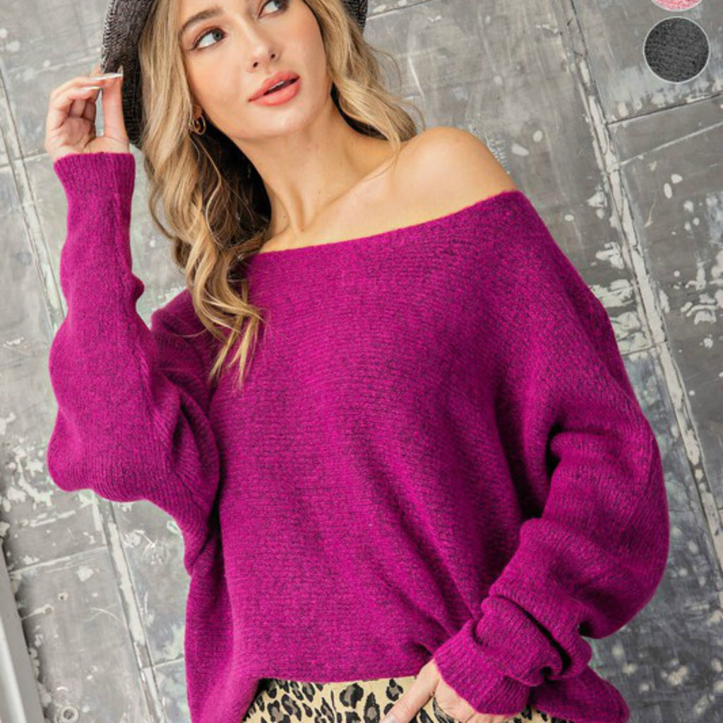 Orchid Mohair Sweater