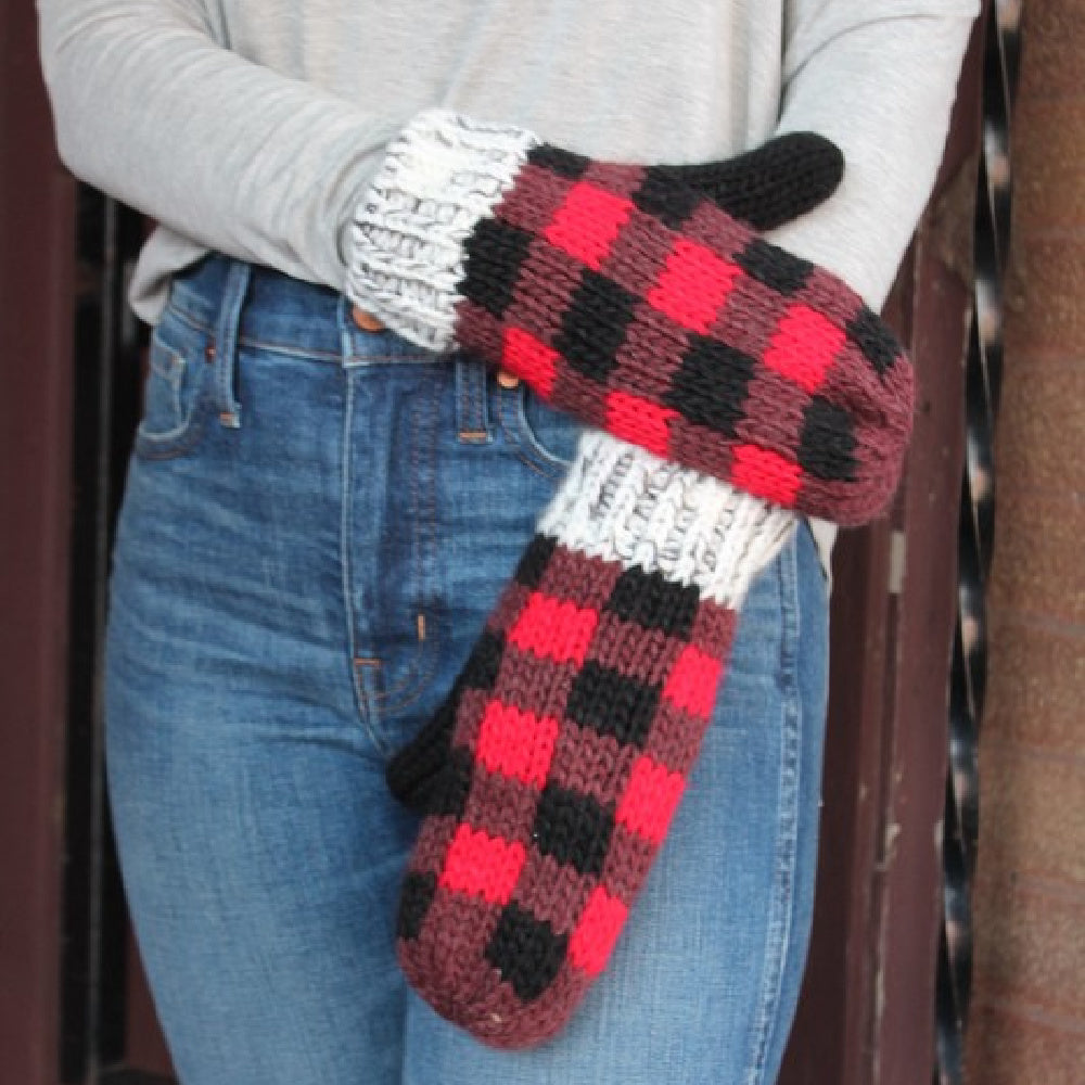 Panache Buffalo Plaid Mittens