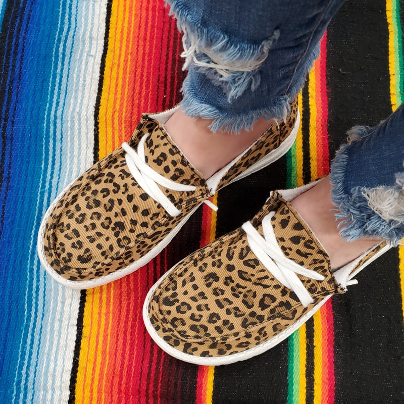 Leopard Walk The World Slip-On