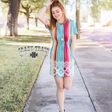 Sand Dune Serape Dress