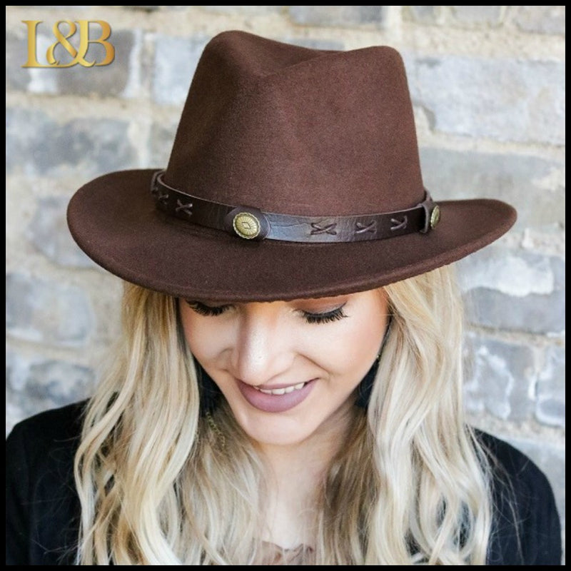 The Gambler Brown Felt Hat