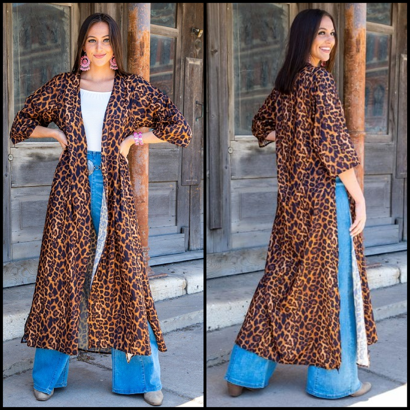From The Hip Leopard Duster*