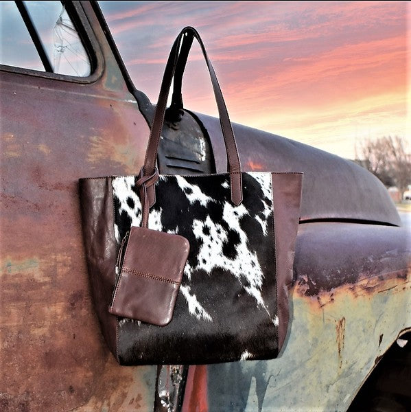 Brown Cowhide Bailey Tote