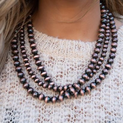 Navajo Copper Pearl Necklace