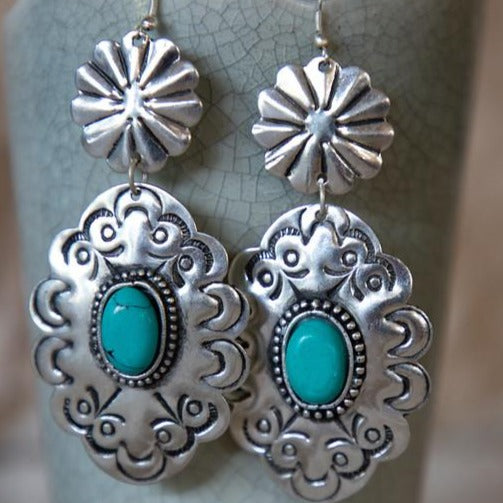 Old Fashioned Turquoise Earrings