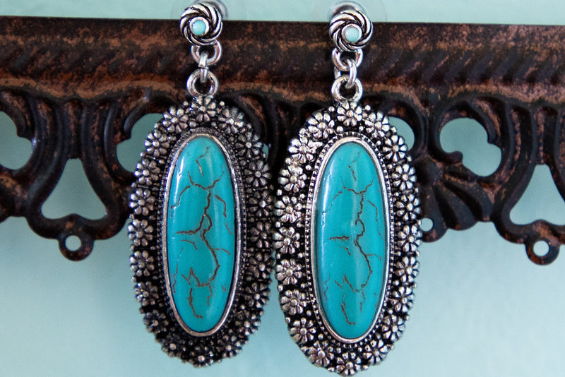 Western Turquoise Earrings