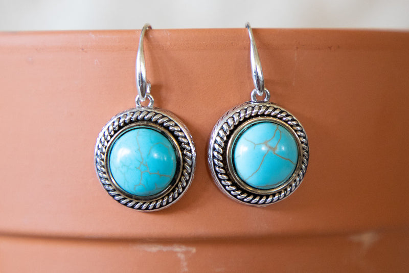 Simple Turquoise Stone Earring