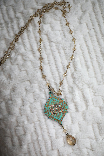 Southern Scroll Turquoise Necklace