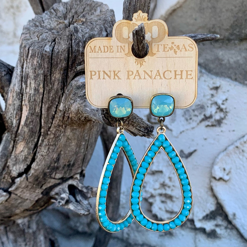 Blue Sky Bead Earrings