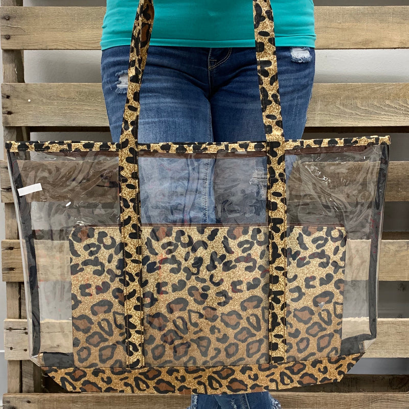 Clearly Leopard Tote Set