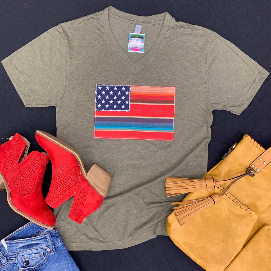 Plus Olive My Country Tee