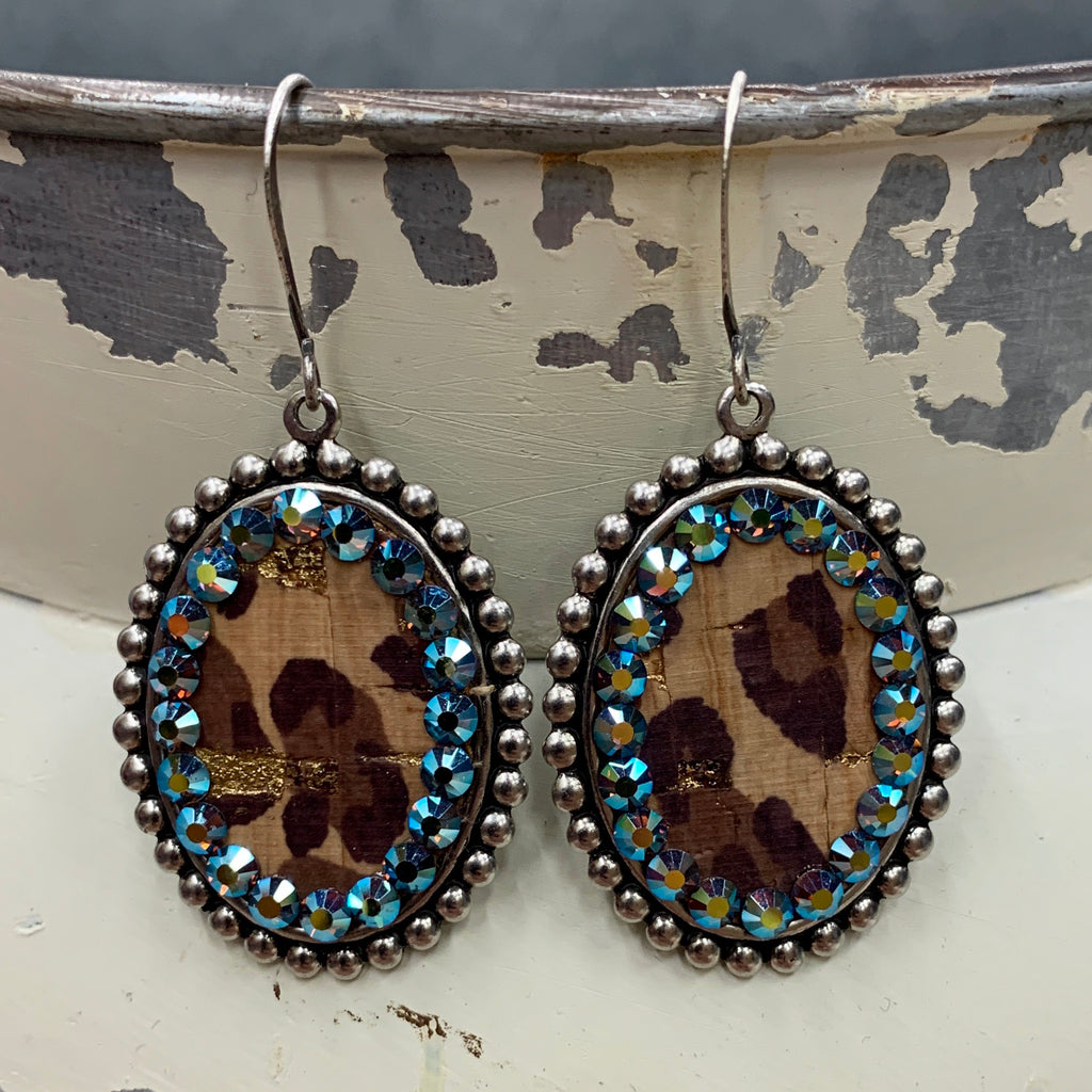 Mini  Leopard Layover Earrings